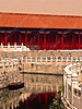 China - Beijing - Forbidden City - Gate of Supreme Harmony - nearby canal