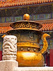 China - Beijing - Forbidden City - Hall of Preserving Harmony - nearby bronze urn