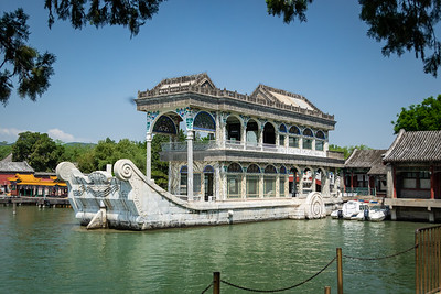 "The infamous ""Marble Boat"", restored in 1893 by Empress Dowager Cixi - ironically using funds originally intended to fund construction of China's Navy."