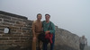 Two tourists along the Great Wall
