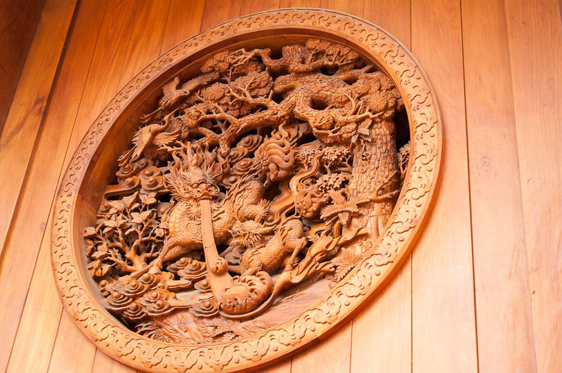This was on the front external wall of the main temple building.  There is no reference for scale on this, but it is several feet in diameter.