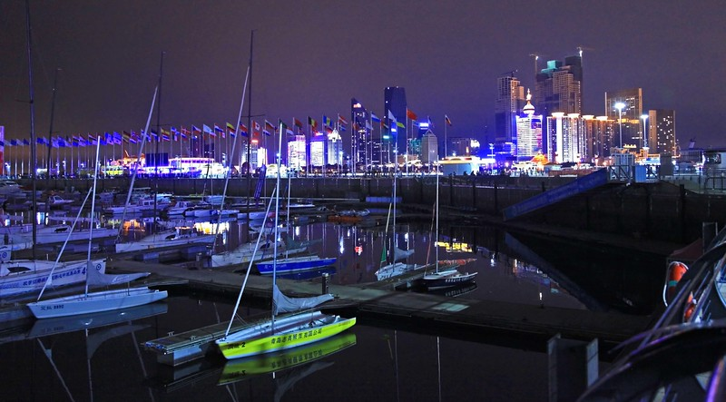 Night skyline of Qingdao