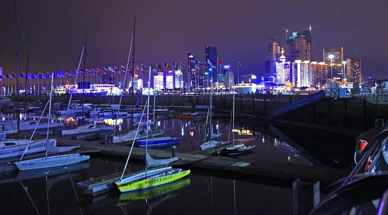 Night skyline of Qingdao