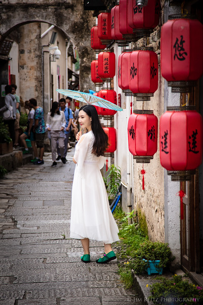 Hongcun village scene.