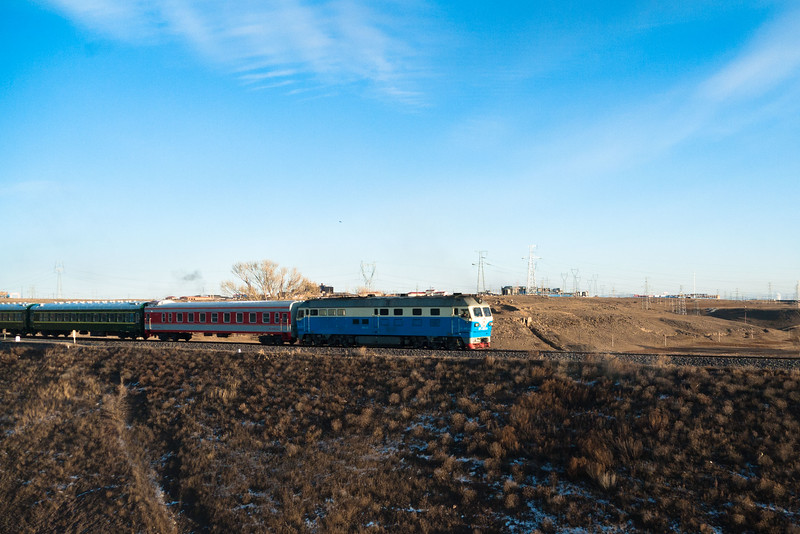 A very similar train to ours in China on the Trans-Siberian railway, between Beijing and Ulaanbaatar.