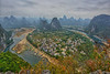 The view from Laozhai Hill, Xingping