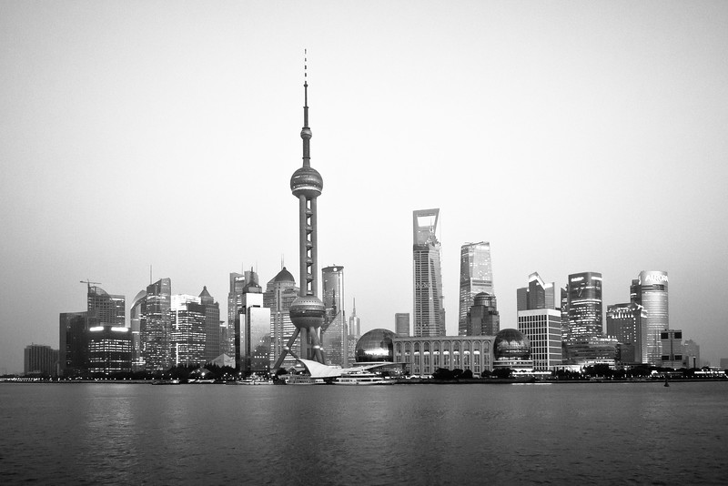 Looking across the river fom the Bund.