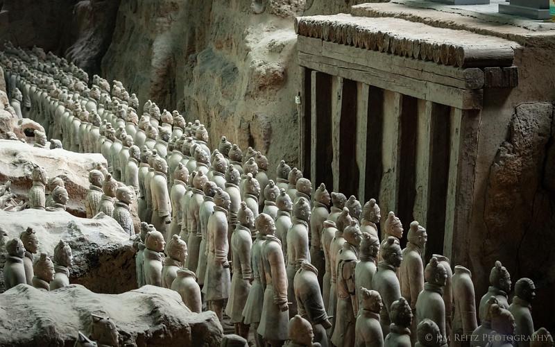 Terra-cotta warriors - Xian, China.