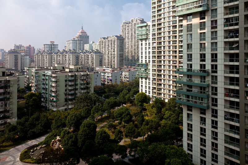 Shanghai Tower Blocks as seen from my hotel room on my first morning.