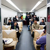 The restaurant carriage on the D302 train from Shanghai to Beijing.  This is where people went to socialise.  I would have stayed and talked to other people but I needed sleep.