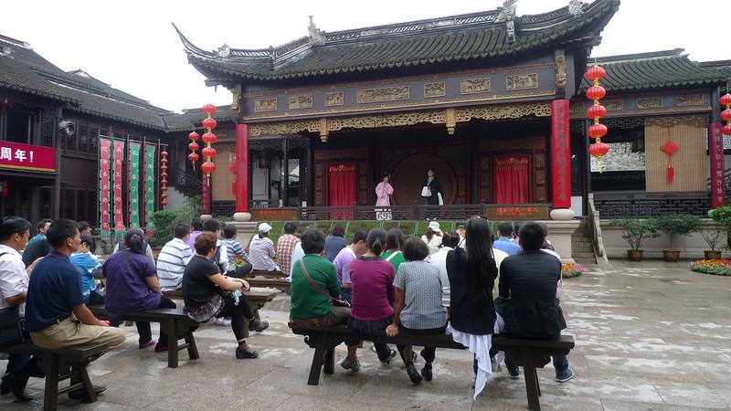 An opera performance in Zhouzhuang.