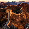 Sunset at the Jingshanling section of the  Great Wall of China