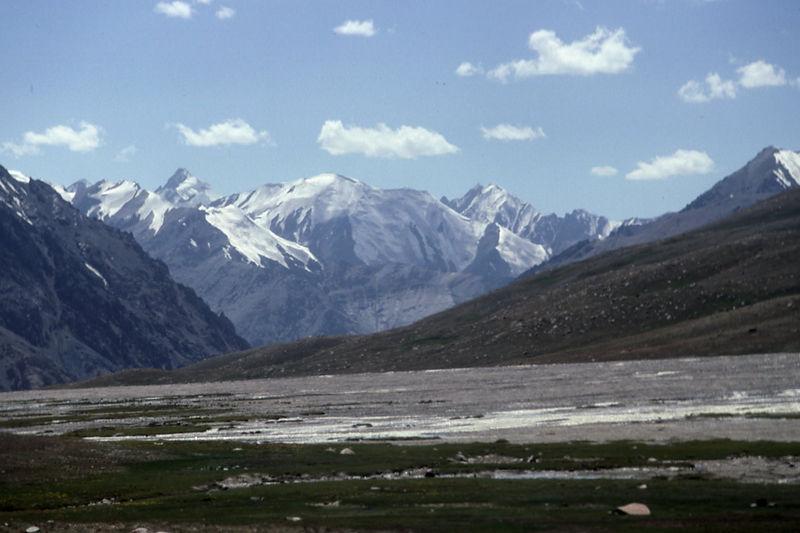 Karakoram Mountains just inside the western border with Pakistan.