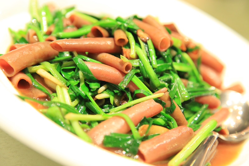 Sea worm stir fried with chives - Qingdao