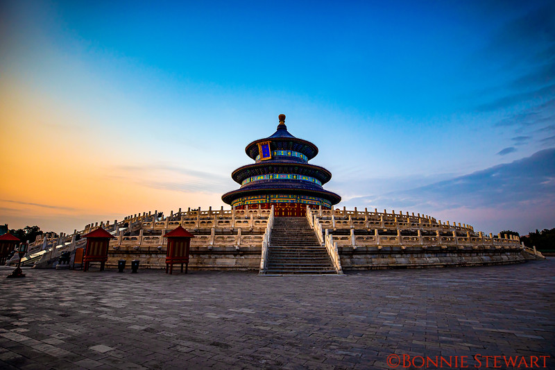 Temple of Heaven in the Summer Palace built in the 15th Century.