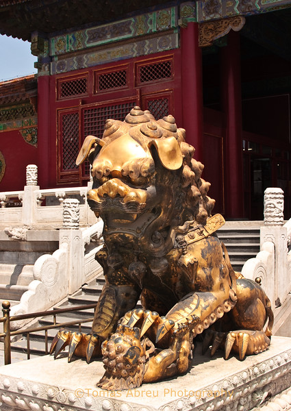 Bronze female lion, Forbidden City, Beijing