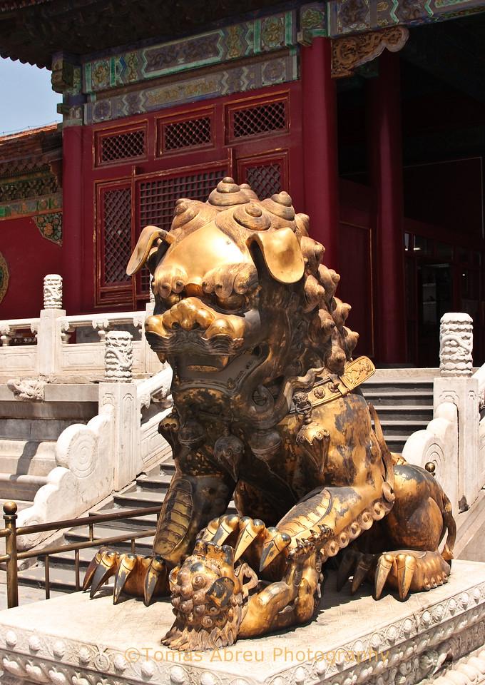 Bronze female lion, Forbidden City, Beijing