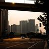 Deserted streets in Shanghai.