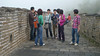 and more Chinese tourists along the Great Wall