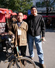 Beijing. Picture with our rickshaw driver.