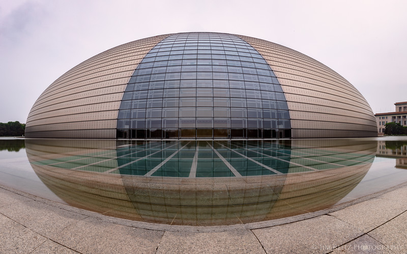 "China's National Center for the Performing Arts, aka the ""Opera House"", aka the ""Alien Egg"" - in Beijing."