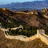 A morning view of the Jingshanling section of the Great Wall of China