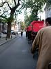 Beijing. Our rickshaw convoy.