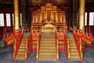 Beijing - The Forbidden City, another throne
