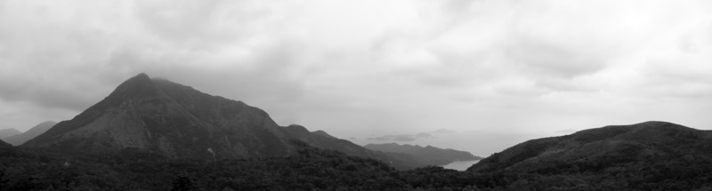 Mountains over Hong Kong