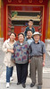 A Chinese family pose at entrance to The Forbidden City
