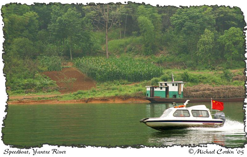speedboats on the Yangtse