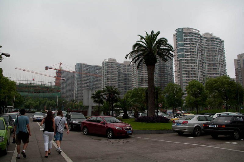 In Shanghai, the smaller apartments are being replaced with these high-rise residential towers. This was going on everywhere we went.