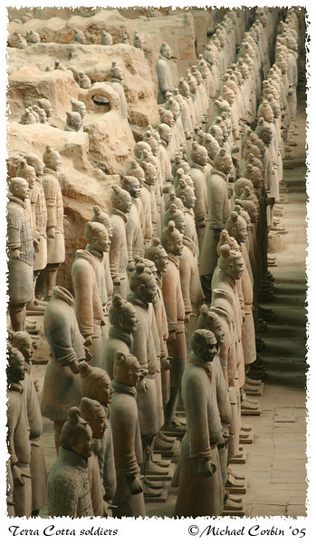 Terra Cotta Soldiers in formation