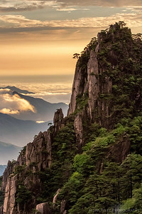Sunset at Huangshan (Yellow Mountain), China