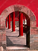 China - Beijing - Forbidden City - Gate of Supreme Harmony - nearby arch
