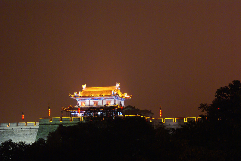 Xi'an city at night