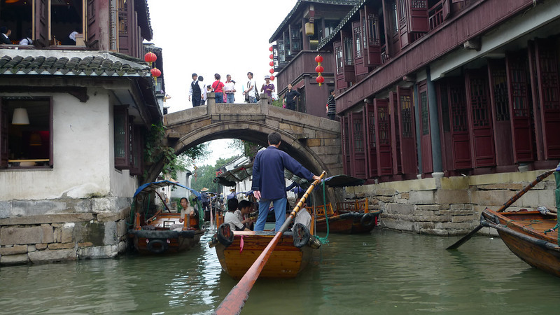 On the canal in Zhouzhuang.