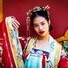 A model in the Forbidden City in Traditional Costume