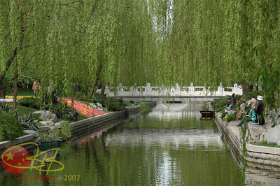 Beautiful canal just outside the Forbidden City.