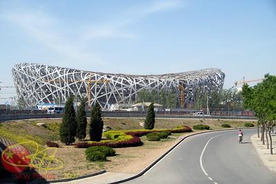 """The Bird's Nest""....the 2008 Olympic stadium under construction.  May 2007"