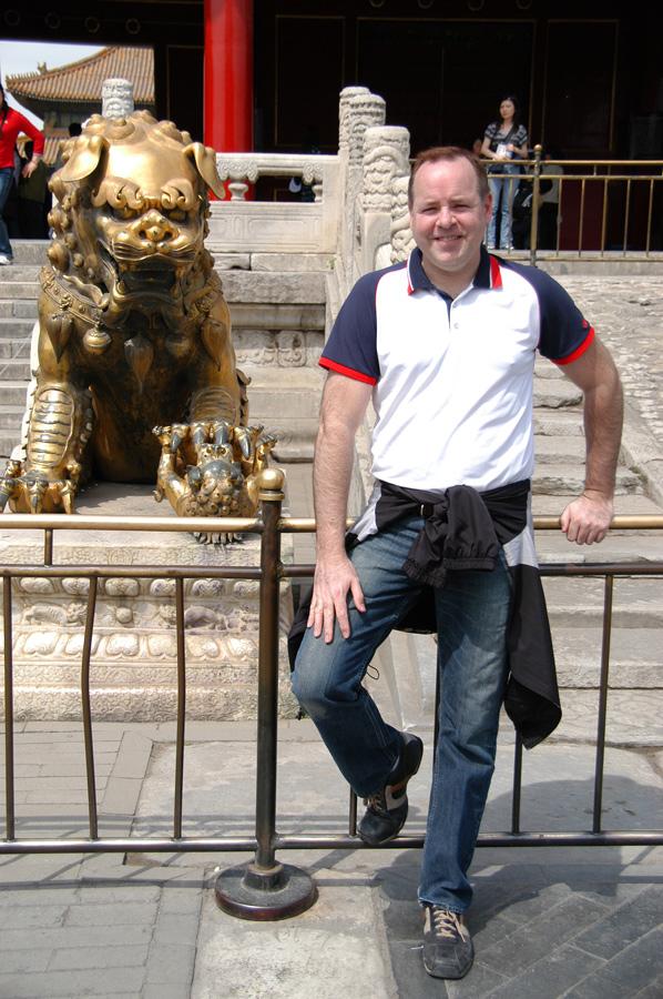 Deja vu?  Same pose as 1980 in the Forbidden City.