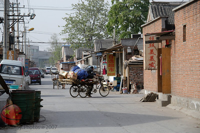 The hutong (neighborhood) between Capital Paradise and the Int'l School of Beijing