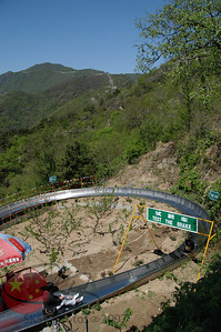 The toboggan ride down from the Great Wall...really!