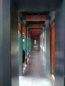 The corridor along the seawall in the Empress' Court. Even with a crowd, this quiet space was lovely and serene.