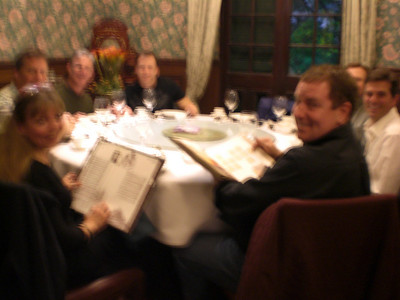 Sorry for the fuzzy picture.  FABULOUS dinner at Ye Old Station Restaurant, Shanghai.