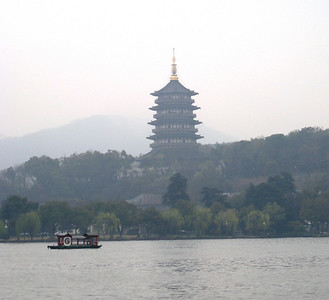 Pagoda on the Lake in Hangzhou