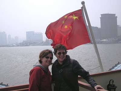 Irish girls with a Communist flag