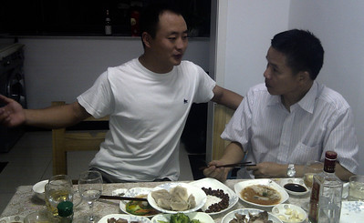 Dinner with the Blade Factory's Owner at his house.