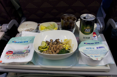 First meal on the plane, bibimbop :-)