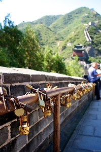 good luck wishes locked to the railings